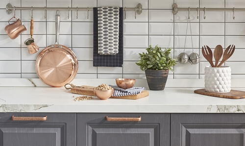 Try a 2017 kitchen trend.