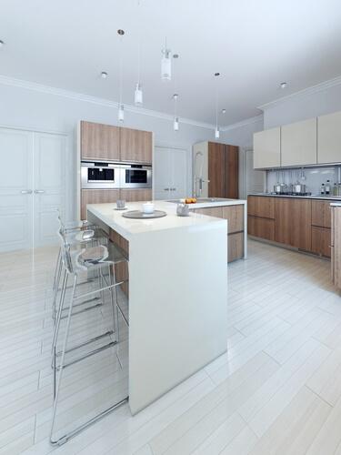 Une cuisine en blanc est considérée de style « intemporel ».
