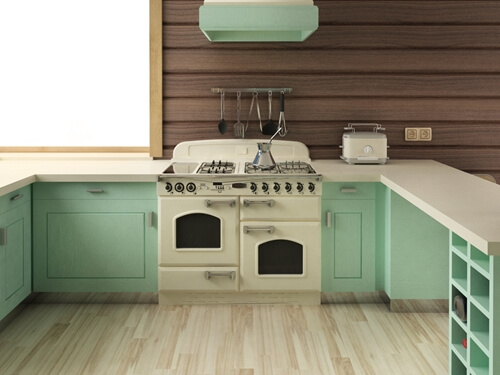 Your vintage kitchen can look space-age, or more homey, or like it is from the 1940s